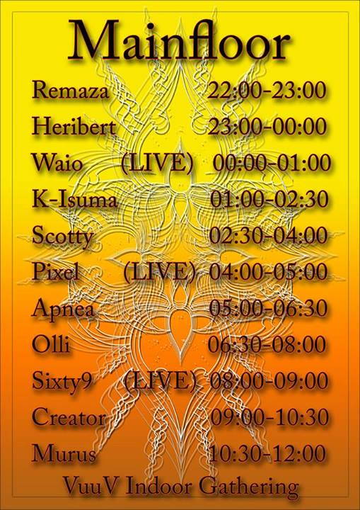 Timetable VuuV 2013